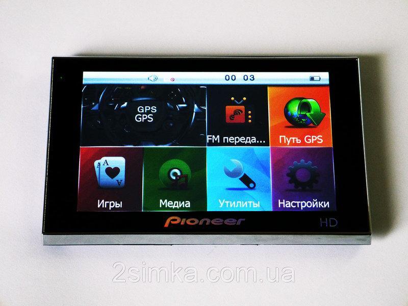 """5"""" GPS навігатор Pioneer HD - 4Gb + FM-трансмітер - Mp3"""