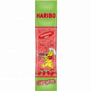 Жевательные конфеты Haribo Spaghetti Strawberry Sour ( клубника) 200г, фото 2