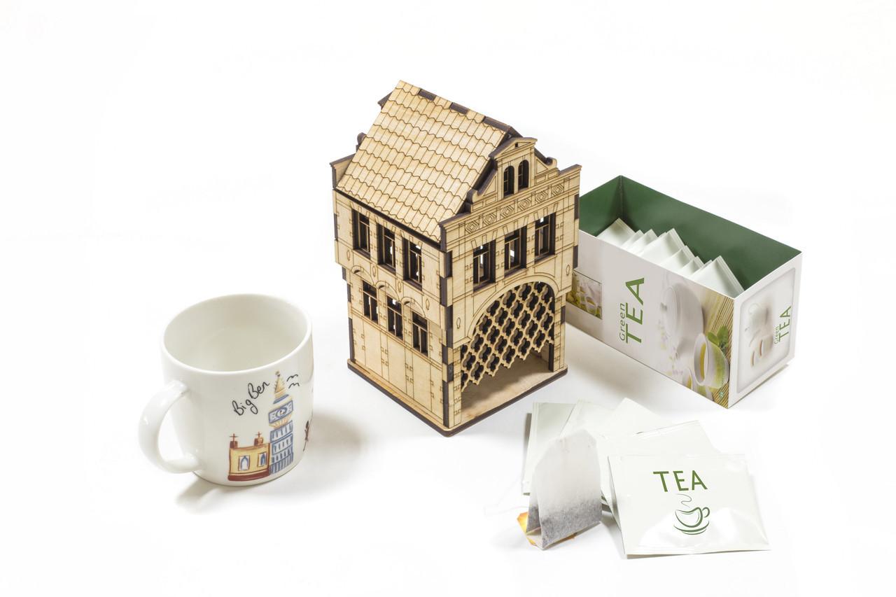 Чайный домик «Амстердам» из фанеры для декупажа и раскраски - СПД Кожа в Киеве