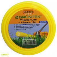 Леска (корд) для триммеров и мотокос Gruntek 1,65 - 2,4 мм (15м)