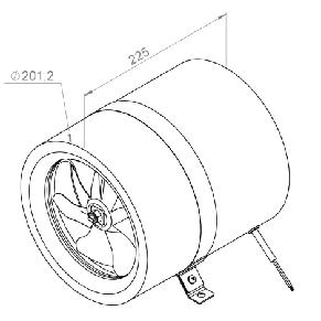 Канальный вентилятор Ruck EL 200 E2 01, фото 2