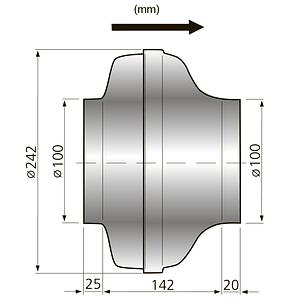 Канальный вентилятор Ostberg CK 100 C, фото 3