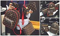 Рюкзак женский Louis Vuitton из кожзама в наборе сумка