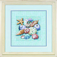 Набор для вышивания Dimensions 13725 Shells on Blue Cross Stitch Kit
