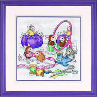 Набор для вышивания Dimensions 13731 Sew Busy Cross Stitch Kit