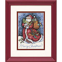 Набор для вышивания Dimensions 08825 Merry Christmas Santa Cross Stitch Kit