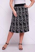Плиссированная юбка Тина (чёрная)