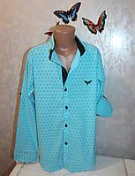Стильная рубашка на мальчика 11-12,12-13,13-14,14-15,15-16 лет