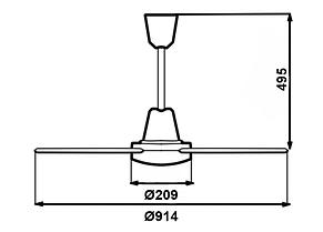 Стельовий вентилятор Vortice Nordik International Plus 90/36, фото 2