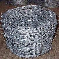Проволока колючая оцинкованная 2,8 мм двухосновная ТУ У 27.1-136-001-2002 одноосновная