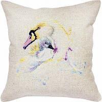 """Набор для вышивания подушка квадрат Luca-S """"Лебеди"""""""