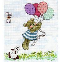 """Набор для вышивания Bothy Threads Ted & Ed: Up, Up And Away """"Вверх, вверх и вдаль"""", XMS11"""