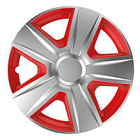 R15 Колпаки на колеса диски для дисков R15 красно / серые Sl/RD колпак K0187