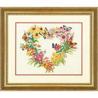 Набор для вышивания Dimensions 70-35336 Wildflower Wreath Cross Stitch Kit, фото 1