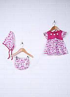 Комплект (платье, трусы, косынка)