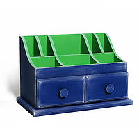 Мини-комод «Loretta» тёмно синий, зеленый