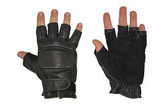 Беспалые тактические перчатки из натуральной кожи