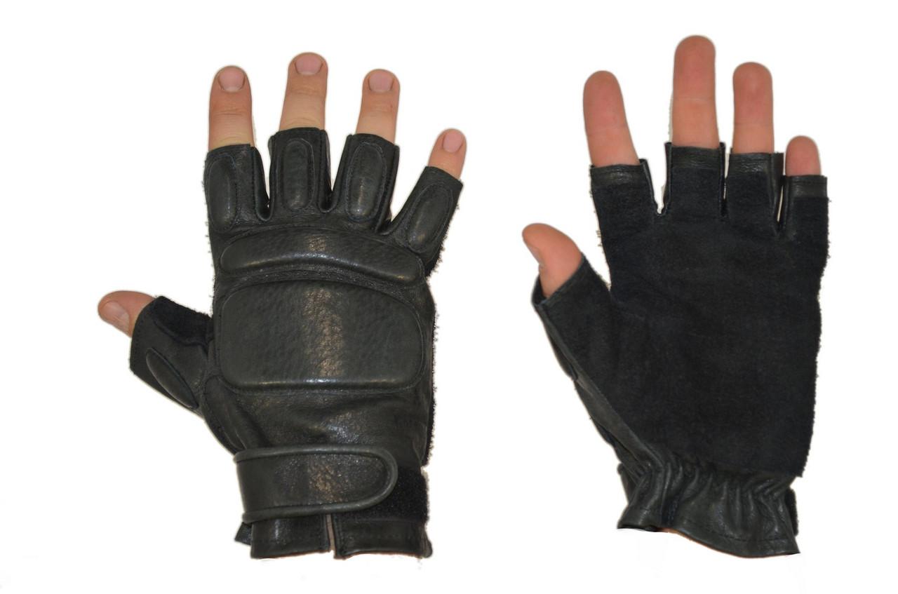 Беспалые тактические перчатки из натуральной кожи - CamoShoP в Запорожской области