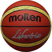 Мяч баскетбольный резиновый №6 MOLTEN (резина, бутил, оранжевый)