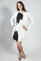 Пиджак-кардиган  женский  длинный белый деловой нарядный большой размер  Rinascimеnto