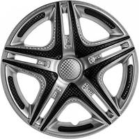 R15 Колпаки на колеса диски для дисков R15 серо / черные Супер Сильвер колпак K0194