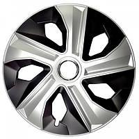 R15 Колпаки на колеса диски для дисков R15 серо / черные Микс колпак K0196