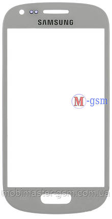 Стекло Samsung i8190/i8200 Galaxy S3 mini белое, фото 2