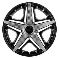 R15 Колпаки на колеса диски для дисков R15 серо / черные супер блэк колпак K0197