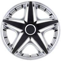 R15 Колпаки на колеса диски для дисков R15 серо / черные супер сильвер колпак K0198