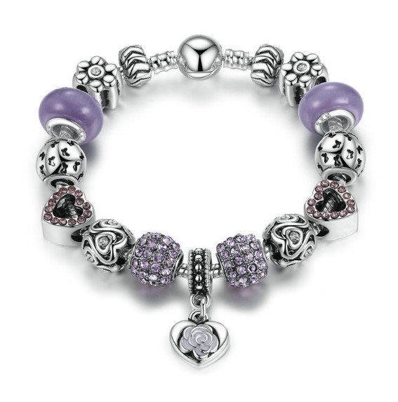 Браслет фиолетовый женский