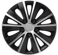 R15 Колпаки на колеса диски для дисков R15 серо / черные СУПЕР БЛЭК колпак K0200
