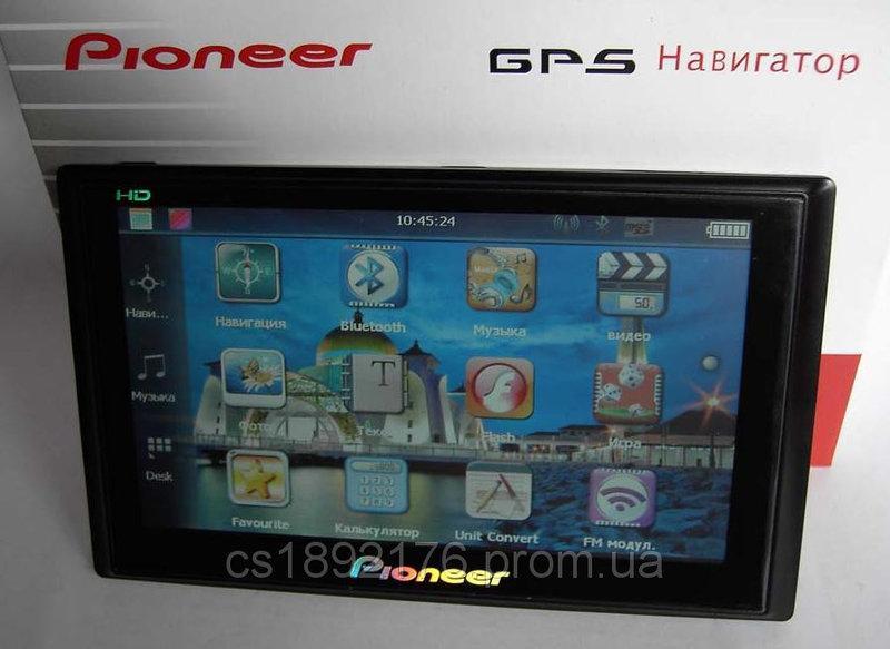 """7"""" GPS навигатор Pioneer HD 4Gb+AV-in+BT"""
