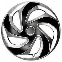 R15 Колпаки на колеса диски для дисков R15 серо / черные МИКС колпак K0202