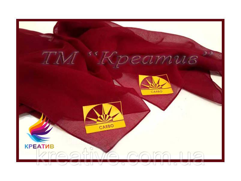 Шифоновый платок, шарф с Вашим логотипом (под заказ от 100 шт)