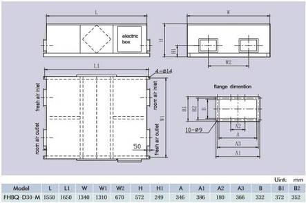 Приточно-вытяжная установка Gree FHBQ-D30-M, фото 2