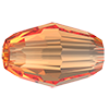 Хрустальные бусины Olive Preciosa (Чехия)  6х4 мм, Crystal Light Orange