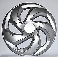 R15 Колпаки на колеса диски для дисков R15 серые Silver колпак K0222