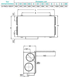Приточно-вытяжная установка Lessar LV-PACU 1000 PW, фото 2