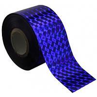 Фольга для литья синяя голографик 1м