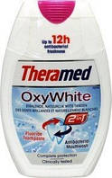 Theramed отбеливающая зубная паста+ополаскиватель Oxy White 2 in 1 (75 мл.) Германия