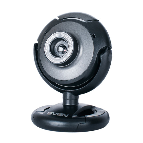 Веб-камера SVEN IC-310web Black, 1.3Mp dinamic/0.35Mp CMOS, USB, микрофон