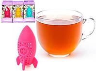 Ситечко силиконовое Fissman Ракета для заваривания чая