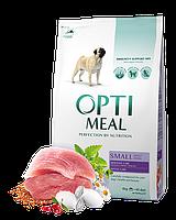 Optimeal Small Adult Dog 4кг- корм для собак мелких пород с уткой