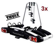 Велобагажник Thule EuroClassic G6 929. Багажник для перевозки 3-х велосипедов на фаркоп. Велоплощадка