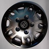Колпаки на колеса диски для дисков R16 серо / черные Нива под колесные болты плюс колпак K0314