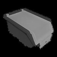 Контейнер облегченный с крышкой малый 170х110х75 мм Черный