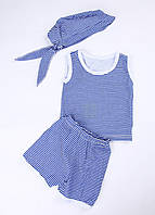 Летний Комплект для Мальчика (безрукавка, шорты, бандана)