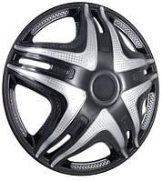 Колпаки на колеса диски для дисков R16 черные выпуклые Газель SUPER BLACK колпак K0303