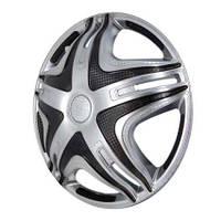 Колпаки на колеса диски для дисков R16 серые выпуклые Газель SUPER Silver колпак K0304