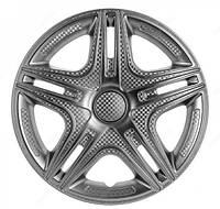 Колпаки на колеса диски для дисков R16 серые выпуклые Газель колпак K0305